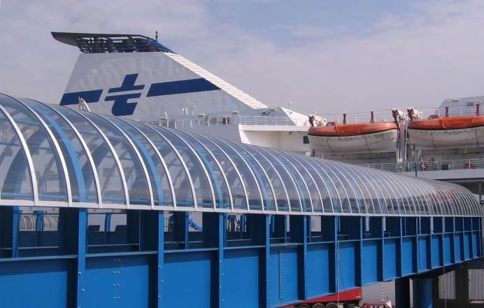 大连港口耐力板顶棚